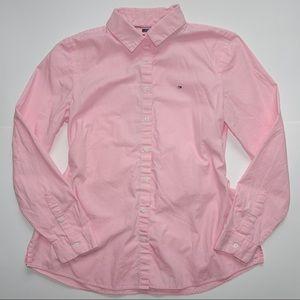 TOMMY HILFIGER: pink button down